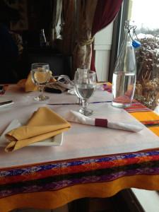 tradicional manteles Peruanos