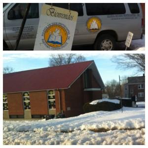 """La Iglesia de Dios Pentecostes está al lado de la escuela, """"Little Angel's Learning Center."""" Por esto, hay una influencia en la escuela. También, esta iglesia es una representación de la gran población de los pentecostes en Hartford y la importancia de un lugar de dedicación."""