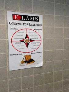 Esa muestra los valores importantes de la escuela y sus estudiantes