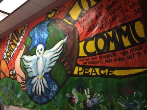 Arte en la pared de Rep. Arce